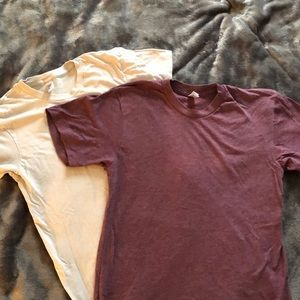 2 American Apparel T-shirts